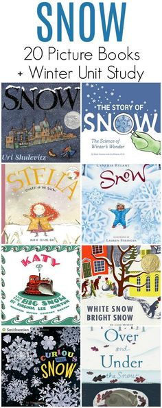 Let it snow! Dig in to these 20 picture books about snow!