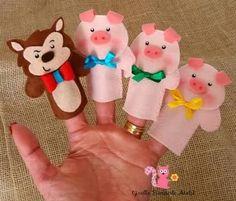 molde tres porquinhos feltro - Pesquisa Google