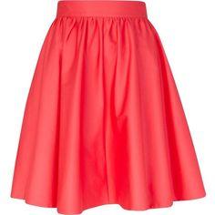 River Island Pink high waisted full skater skirt ($43) via Polyvore