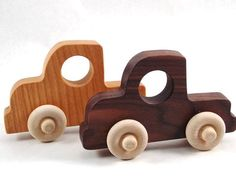 Wooden Toy Truck Old Fashioned Wood Toy Truck by BannorToys, $12.00