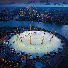 The O2 Arena, Greenwich. #london #greenwich #travel