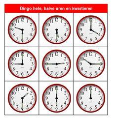 Bingo, Clock For Kids, Math Classroom