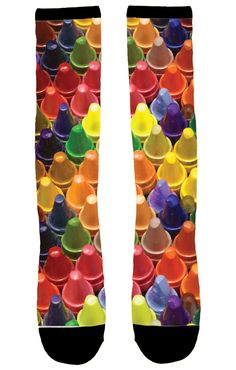 Kids' crayon-print socks