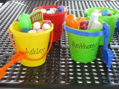 This time of year, it's easy to find inexpensive water toys and sidewalk chalk - and those make great, fun, practical - yet cost-effective party favors!