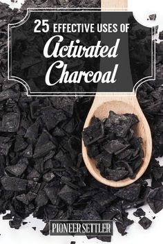 25 Effective Uses For Activated Charcoal | There are practical uses like treating bug bites to making homemade beauty products.