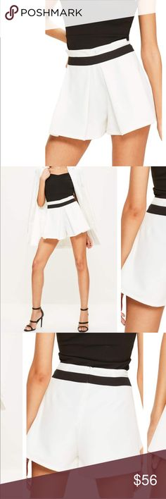 Tailored Shorts New with tags. Perfect condition. Super stylish and comfortable. Missguided Shorts Skorts