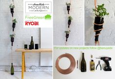 Easy DIY hanging herb garden - Home Decorating Trends MAGICAL