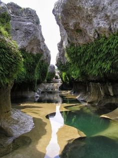 The Narrows in the Texas Hill Country near Austin Texas.