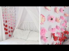 Apartment Decor DIY: Flower Wall Chains - http://homeimprovementhelp.info/home-decor/apartment-decor-diy-flower-wall-chains/