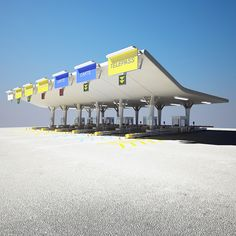 Highway Toll Gate 3D Model - 3D Model