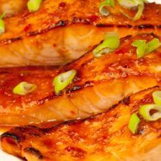 broiled salmon with sweet thai chili glaze