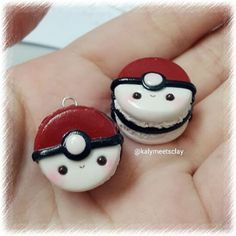 Pokemon macarons! I love macarons, and my little sister loves Pokemon. Perfect.