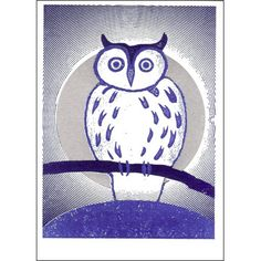 Owl Letterpress Greetings Card £2.50