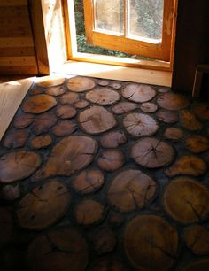 This would be an awesome floor for a sun room or outside sitting area.