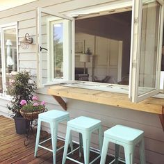 """Outstanding """"outdoor kitchen designs layout patio"""" detail is offered on our site. Read more and you will not be sorry you did. Living Room Kitchen, New Kitchen, Kitchen Pass, Awesome Kitchen, Living Rooms, Pass Through Window, Outdoor Kitchen Design, Cottage Living, Ramen"""