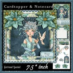 Cardtopper Hope Peace Joy 621 on Craftsuprint - View Now!