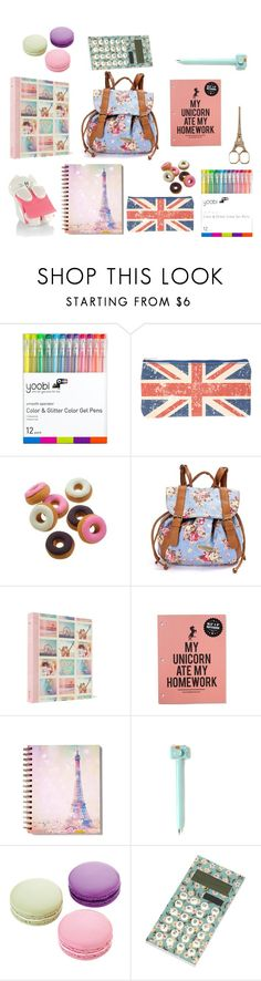 """School Supplies"" by pastelkittycat1285 on Polyvore featuring interior, interiors, interior design, home, home decor, interior decorating and Ladurée"