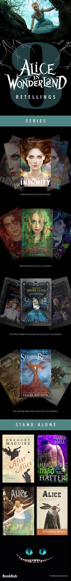8 fairytale retellings based on Alice's Adventures in Wonderland. These fairytale retellings and great for teens and for adults!