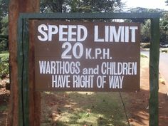 Rules of the road in Kenya #funny #signs