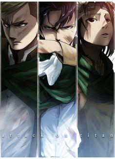 The First Defense | Erwin, Levi & Hanji | Attack on Titan | Shingeki no Kyojin | #Anime