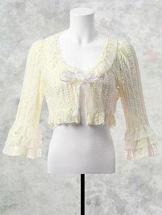 Rafureddo Lace Three-Quater Sleeve Bolero/ See more at http://www.cdjapan.co.jp/apparel/new_arrival.html?brand=MMM #gothic lolita #lolita fashion