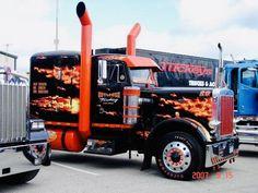 one HOT Peterbilt! 'Get er Loaded' - That's one HOT Peterbilt! 'Get er Loaded' - Show Trucks, Big Rig Trucks, Lifted Trucks, Old Trucks, Mudding Trucks, Diesel Trucks, Dodge Cummins Diesel, Diesel Cars, Custom Big Rigs