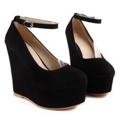 $33.44 Elegant Solid Color and Suede Design Wedge Shoes For Women