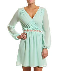 Another great find on #zulily! Mint Surplice Dress by Coveted Clothing #zulilyfinds