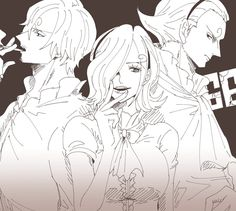 one piece. vinsmoke. family. sanji. rejiu. yonji