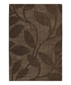 Take a look at this Brown Leaf Wool Rug by Chandra on #zulily today!