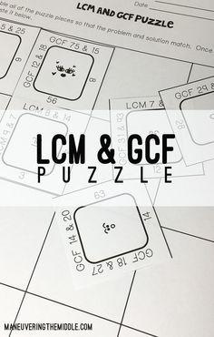Teaching Kids LCM & GCF With the Ladder Method : Math ...