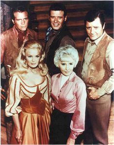 "3/6/14 12:41a ""The Big Valley""   The Barkley Family:  Lee Majors,  Peter Breck,  Richard Long,  Linda Evans, Barbara Stanwyck. 1965-1969 howsweetitwas.wordpress.com"