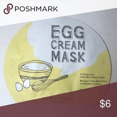 Too Cool For School Egg Cream Sheet Mask Perfect item to add to a bundle! Fun sheet mask Makeup