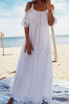 9f3cc26b6a4 Fashion Off-Shoulder Bare Back Beach Maxi Dresses