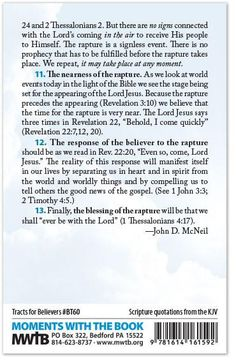 Tract For Believers – What is Meant by the Rapture? – Moments With The Book Tribulation Period, The Tribulation, Love The Lord, Gods Love, What Is Meant, Meant To Be, Jesus Quotes, Bible Quotes