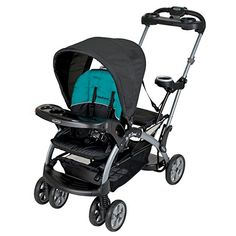 Baby Trend Sit N Stand Ultra Tandem Stroller Phantom. The Sit N Stand Ultra stroller has multiple riding positions, allowing children to sit or stand along the ride, or use an infant car seat in both the front and rear facing seats. Britax Double Stroller, Baby Jogger Stroller, Best Double Stroller, Pram Stroller, Double Strollers, Baby Strollers, Best Baby Car Seats, Baby Safety, Tandem