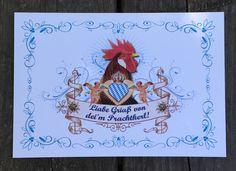 Postkarte für Liabe Griaß