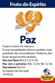 Fruto do Espírito - Paz Faith Quotes, Bible Quotes, Bible Verses, I Love You Lord, Gods Love, Bibel Journal, Reformed Theology, Christian Girls, My Jesus