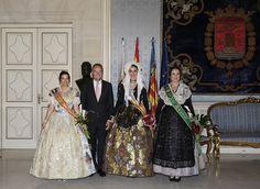 Junto a las máximas representantes de las fiestas de Castellón, Valencia y Alicante, tras el acto de proclamación de la Bellea del Foc 2015, Carmen Caballero