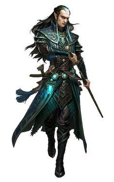 Elfo, guerreiro/mago.