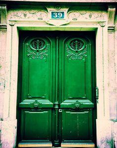 emerald green door!