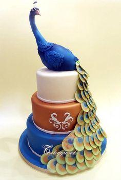 Peacock cake  Cake by laSimo100