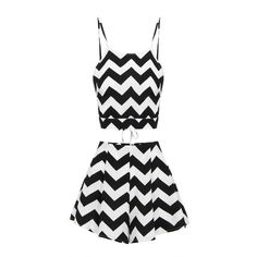 Yoins Black & White Semi Sheer Wave Print Co-ords ($17) ❤ liked on Polyvore featuring tops, black, tie halter top, crop top, halter tops, black white top and halter crop tops