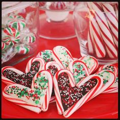 candy cane treats - valentine's day and christmas <3
