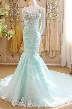 new arrival Sexy mermaid Prom Dress, lace strapless Prom Dress with beaded , sweetheart Prom Dress with embroidery