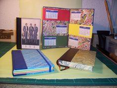 Calendario y libros de notas