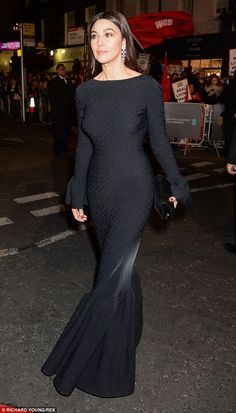Vintage Italian glamour: The 50-year-old gave the younger stars at the BAFTAs a run for th...