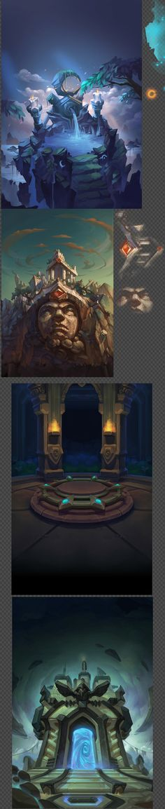 Game Art Resources / cartoon Warcraft UI scene ico ...