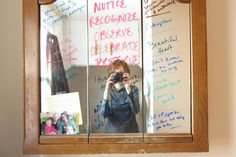 Awesome Idea!  Using dry-erase markers on windows & mirrors.