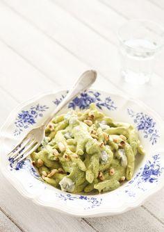 pasta met broccoli, prei en gorgonzola ***